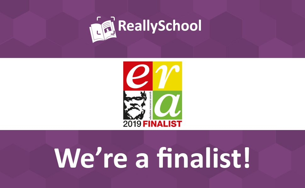 ReallySchool is an Education Resources Awards 2019 Finalist!