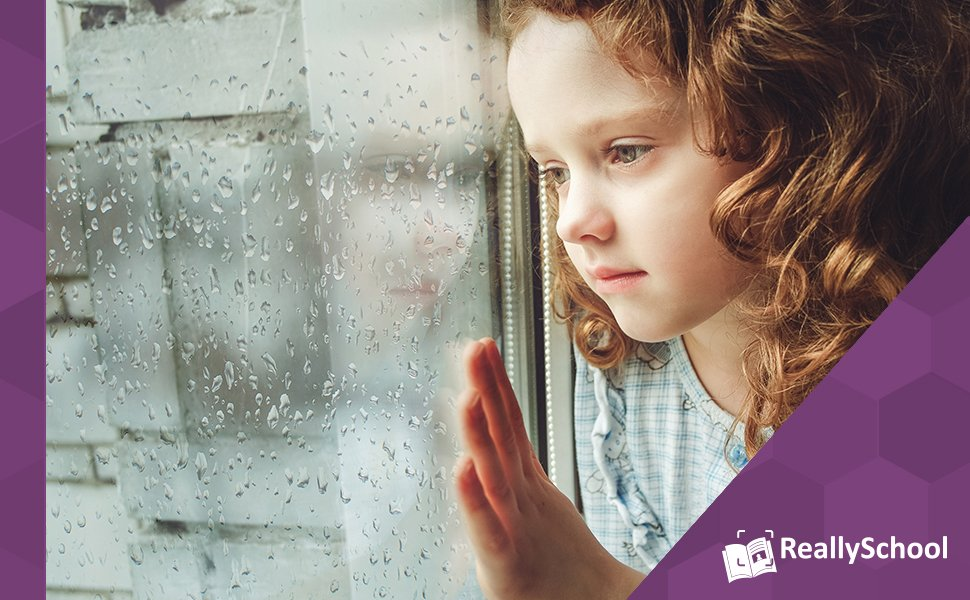 Child looking out of window