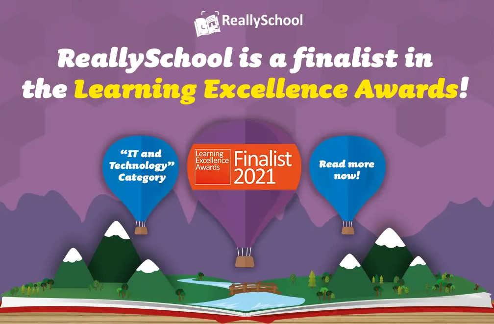 ReallySchool is a finalist in the Learning Excellence Awards!
